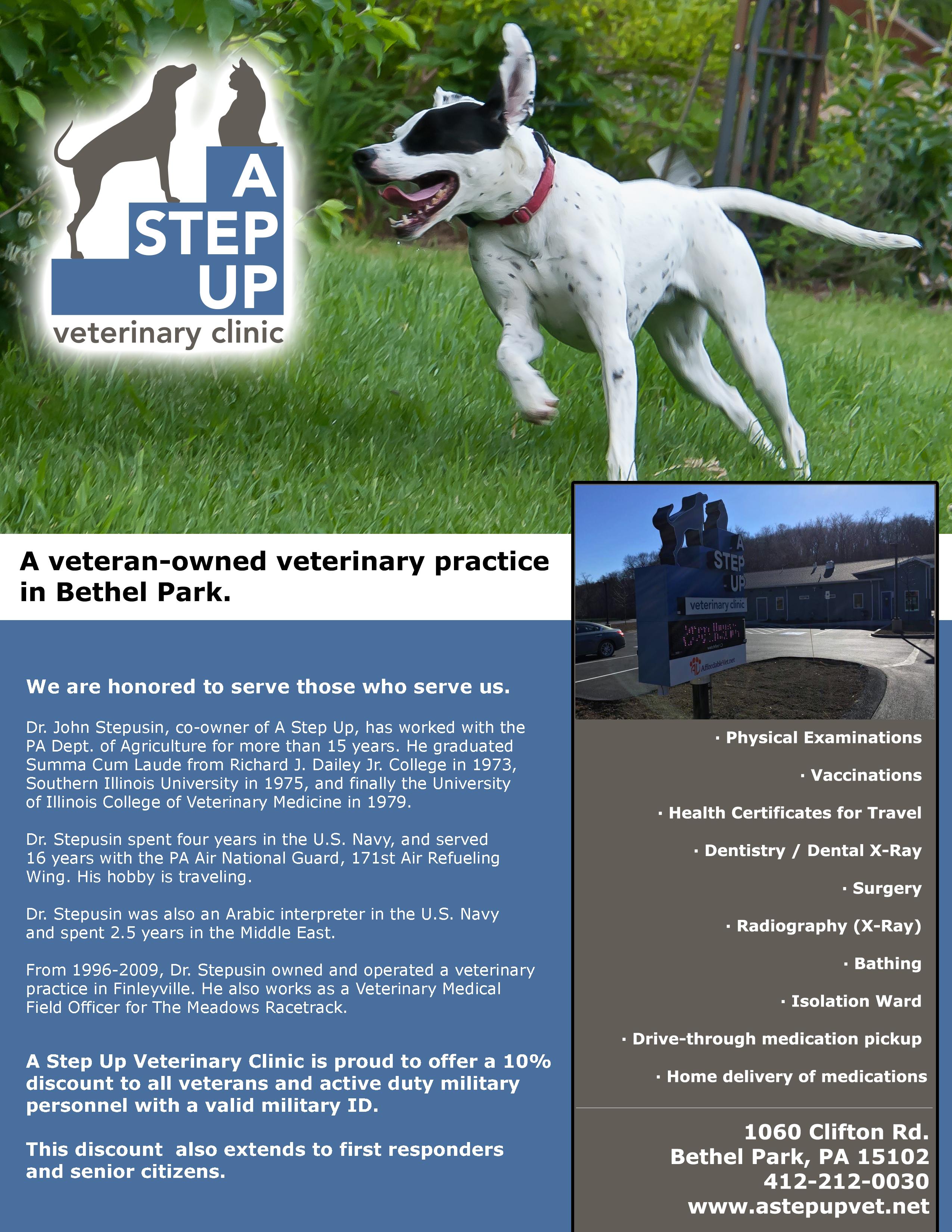 A Step Up Veterinary Clinic - Bethel Park, PA